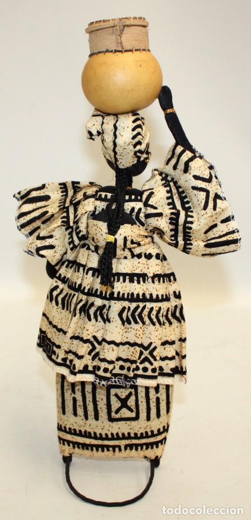 Vintage: NEGRITA DE FIELTRO DE NIGERIA. - Foto 3 - 131523198