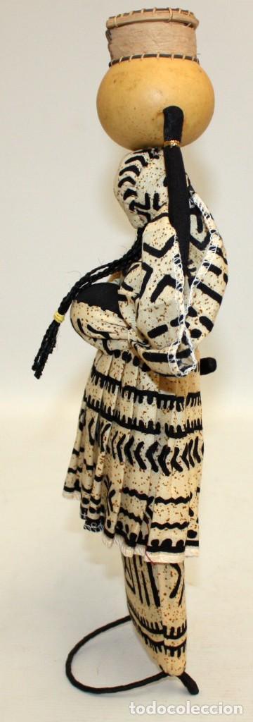 Vintage: NEGRITA DE FIELTRO DE NIGERIA. - Foto 5 - 131523198