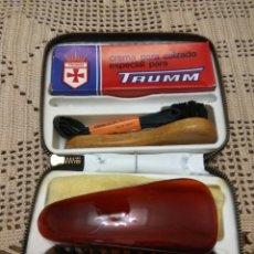Vintage: ESTUCHE LIMPIEZA CALZADO TRUMM NUEVO. Lote 131587817