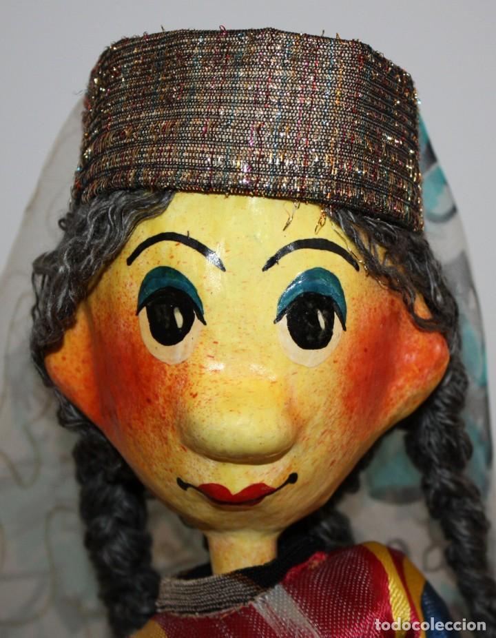 Vintage: bonita pareja de marionetas artesanas de jiva (uzbekistán) - Foto 6 - 131979166