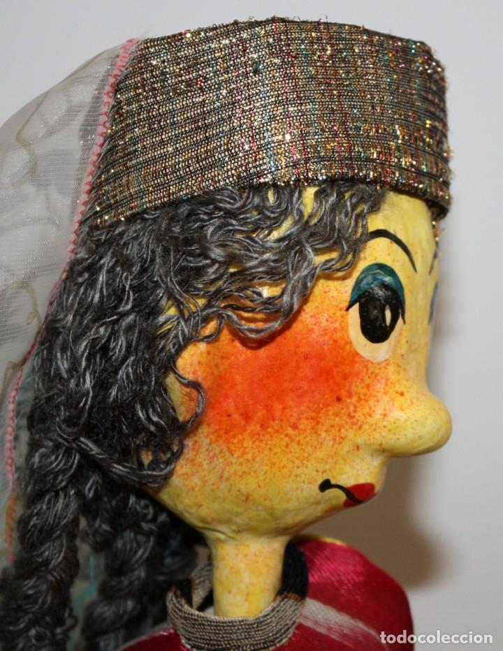 Vintage: bonita pareja de marionetas artesanas de jiva (uzbekistán) - Foto 9 - 131979166