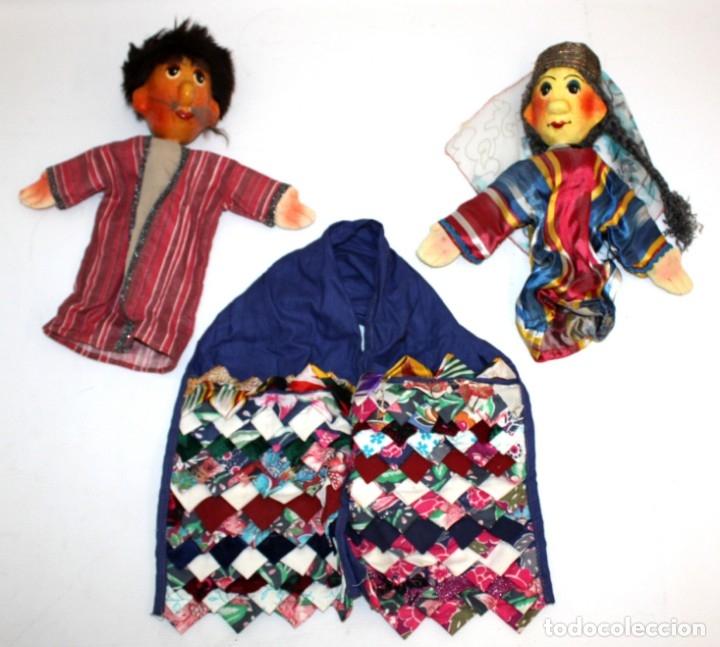 Vintage: bonita pareja de marionetas artesanas de jiva (uzbekistán) - Foto 16 - 131979166