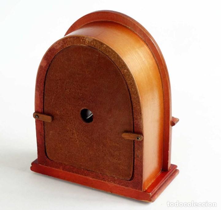 Vintage: RADIO RETRO MADERA TIPO CAPILLA. FUNCIONANDO. REPRODUCCION - Foto 4 - 132120238