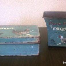 Vintage: CAJA Y MACETERO VINTAGE. Lote 133027226