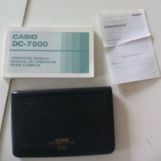 Vintage: CASIO DC-7500 DATA BANK 500 CALCULADORA AGENDA ORGANIZADOR CALCULATOR. Lote 133095890
