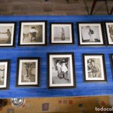 Vintage: LOTE DE DIEZ FOTOGRAFIAS EN B/N ENMARCADAS - AÑOS 50/60 - MUY DECORATIVAS -. Lote 133155446