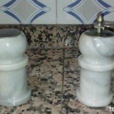 Vintage: SALERO Y MOLINILLO DE MARMOL. Lote 133321138