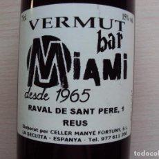 Vintage: VERMUT REUS SOLO COLECCION NO APTO PARA BEBER. Lote 134065802