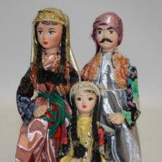 Vintage: BONITA FAMILIA DE PAPEL-MACHÉ TURQUIA.. Lote 134264622