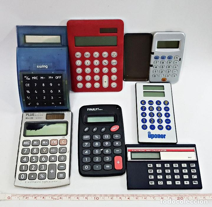 Vintage: Lote de 7 calculadoras surtidas. - Foto 2 - 134754130