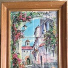 Vintage: CUADRO VINTAGE DE RONDA, MALAGA TIPO AZULEJOS. Lote 134931139