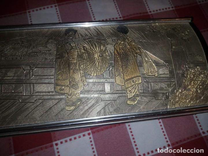 Vintage: caja musical joyero, lady mate music box,música lara,stheme.metalica motivo oriental. - Foto 2 - 135161254