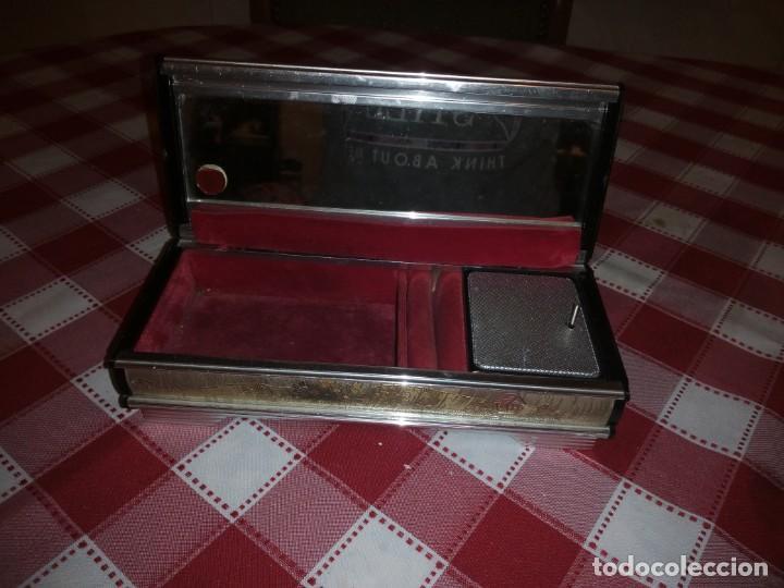 Vintage: caja musical joyero, lady mate music box,música lara,stheme.metalica motivo oriental. - Foto 5 - 135161254