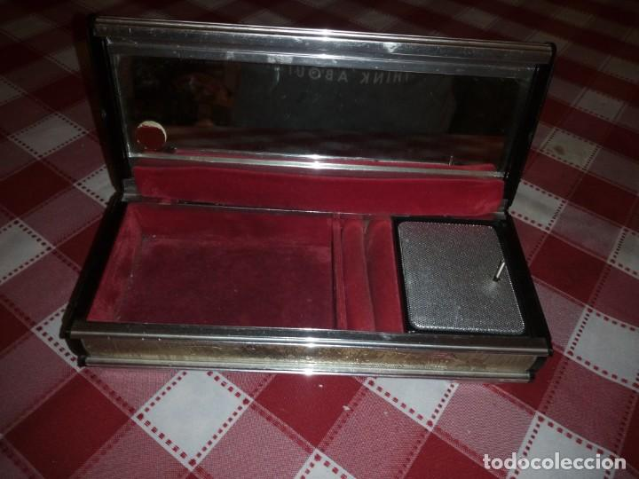 Vintage: caja musical joyero, lady mate music box,música lara,stheme.metalica motivo oriental. - Foto 6 - 135161254