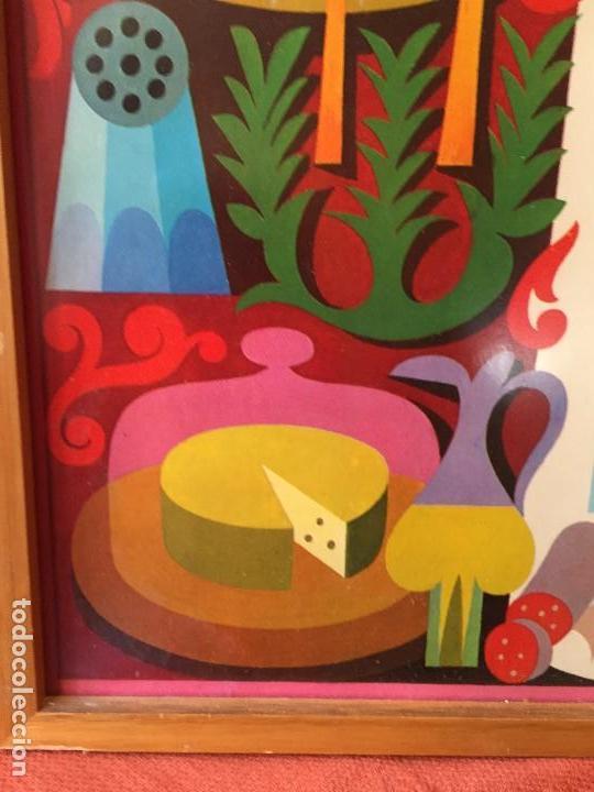 Vintage: TABLA ENMARCADA AÑOS 70 PROTEINAS COCINA GABINETE DE ORIENTACION DEL CONSUMO CHAVES 55X37CMS - Foto 9 - 135720827