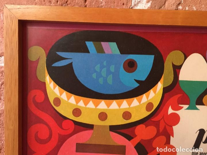 Vintage: TABLA ENMARCADA AÑOS 70 PROTEINAS COCINA GABINETE DE ORIENTACION DEL CONSUMO CHAVES 55X37CMS - Foto 11 - 135720827