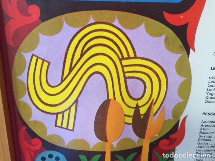 Vintage: TABLA ENMARCADA AÑOS 70 PROTEINAS COCINA GABINETE DE ORIENTACION DEL CONSUMO CHAVES 55X37CMS - Foto 12 - 135720827