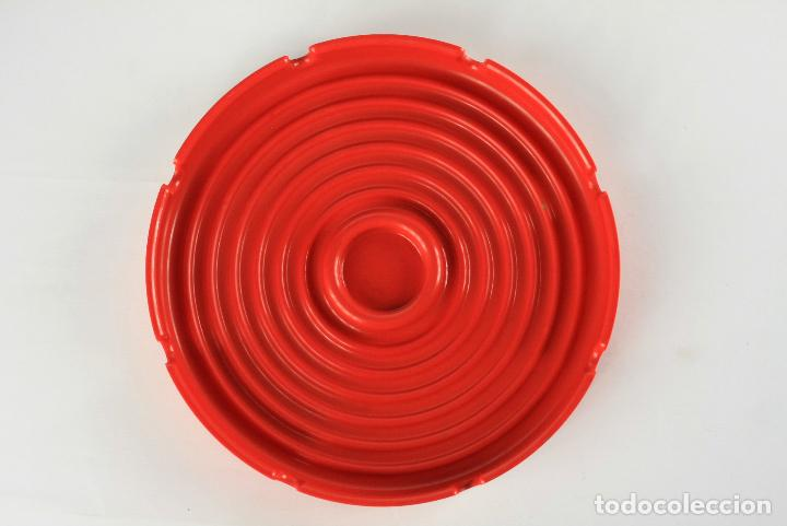 Vintage: cenicero 4641 Kartell diseño Anna Castelli rojo melamina pop space age Italia 70s - Foto 4 - 135751730