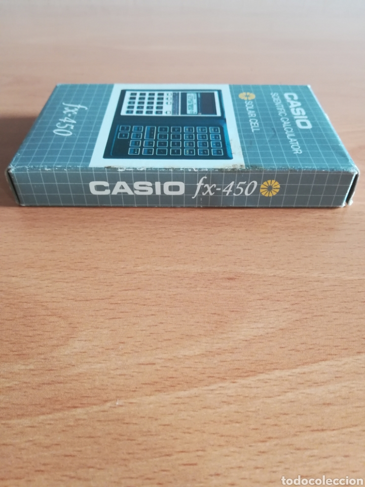 Vintage: Calculadora Casio Scientific Calculator FX-450 Solar Cell - años 80 vintage Completa - Foto 5 - 136224089