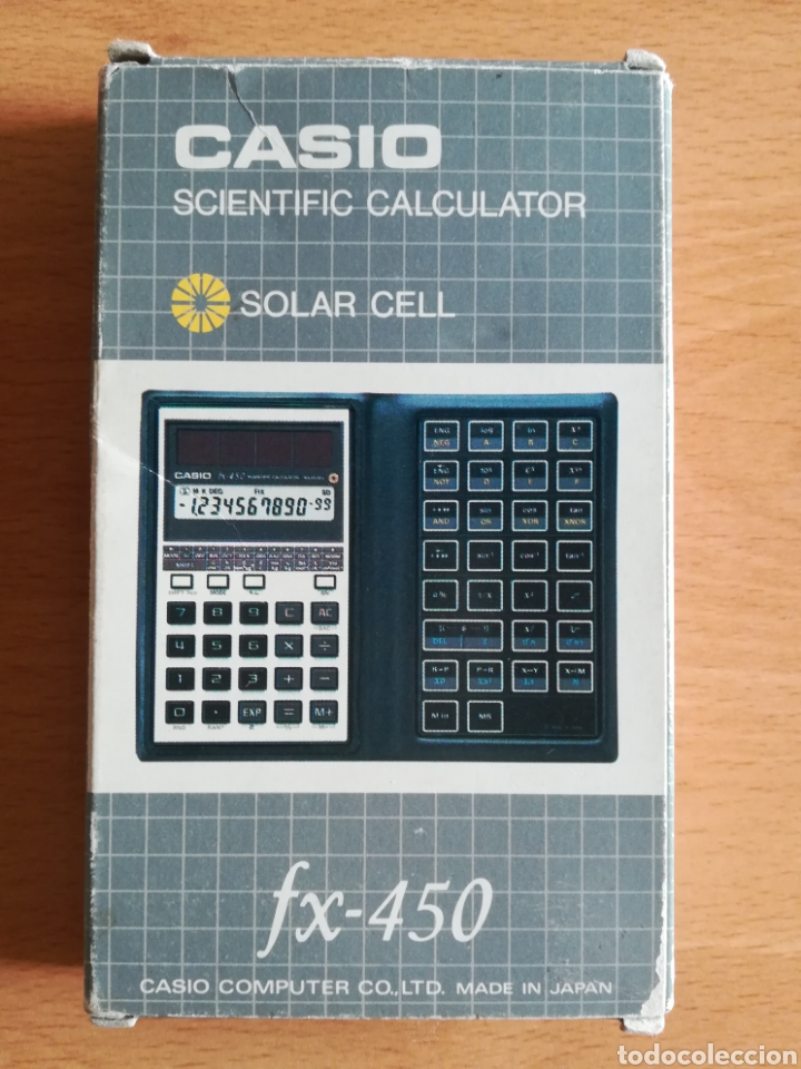 Vintage: Calculadora Casio Scientific Calculator FX-450 Solar Cell - años 80 vintage Completa - Foto 6 - 136224089