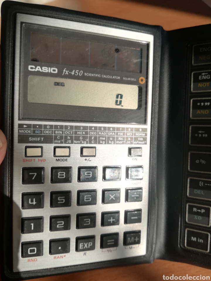 Vintage: Calculadora Casio Scientific Calculator FX-450 Solar Cell - años 80 vintage Completa - Foto 17 - 136224089