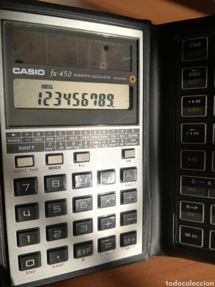 Vintage: Calculadora Casio Scientific Calculator FX-450 Solar Cell - años 80 vintage Completa - Foto 18 - 136224089