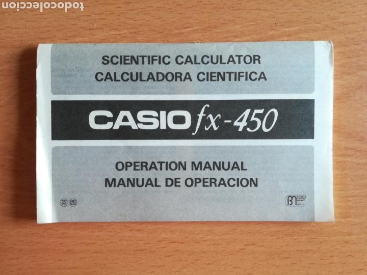 Vintage: Calculadora Casio Scientific Calculator FX-450 Solar Cell - años 80 vintage Completa - Foto 25 - 136224089