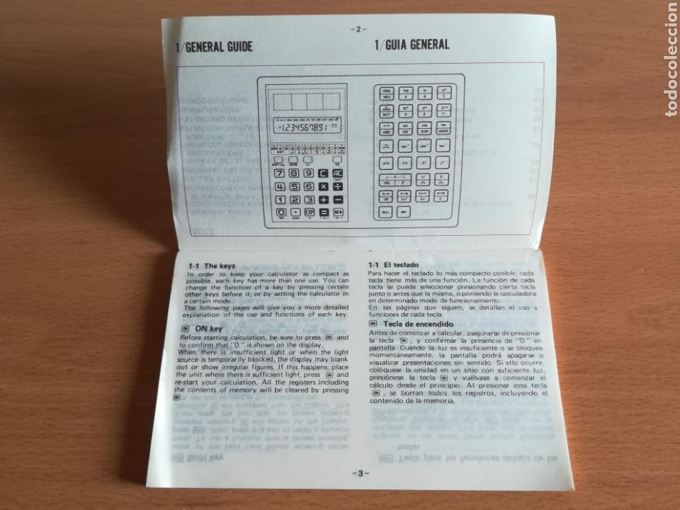 Vintage: Calculadora Casio Scientific Calculator FX-450 Solar Cell - años 80 vintage Completa - Foto 29 - 136224089