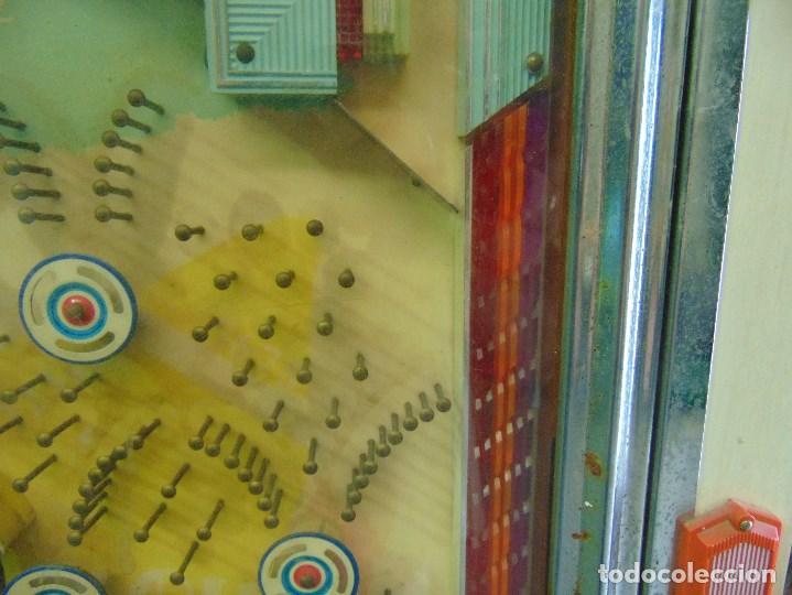 Vintage: MAQUINA RECREATIVA JAPONESA EN MADERA Y METAL TIPO PINBALL DE LA MARCA NISHIJIN SUPER DH - Foto 4 - 136584226
