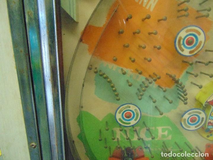 Vintage: MAQUINA RECREATIVA JAPONESA EN MADERA Y METAL TIPO PINBALL DE LA MARCA NISHIJIN SUPER DH - Foto 6 - 136584226
