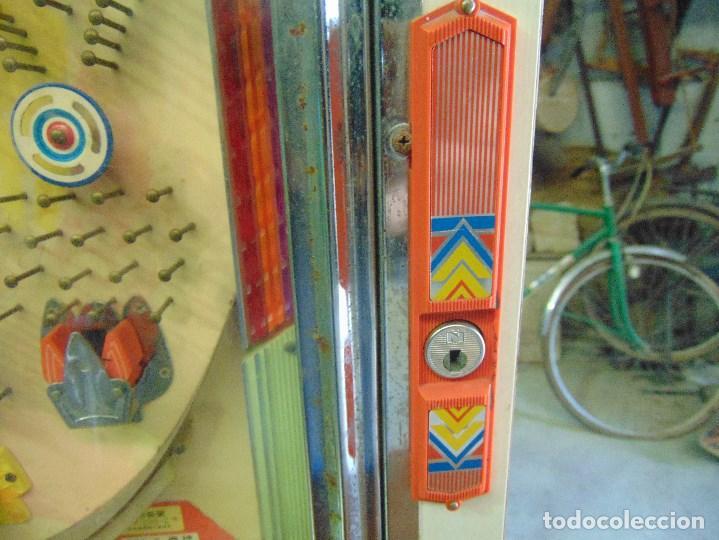 Vintage: MAQUINA RECREATIVA JAPONESA EN MADERA Y METAL TIPO PINBALL DE LA MARCA NISHIJIN SUPER DH - Foto 10 - 136584226