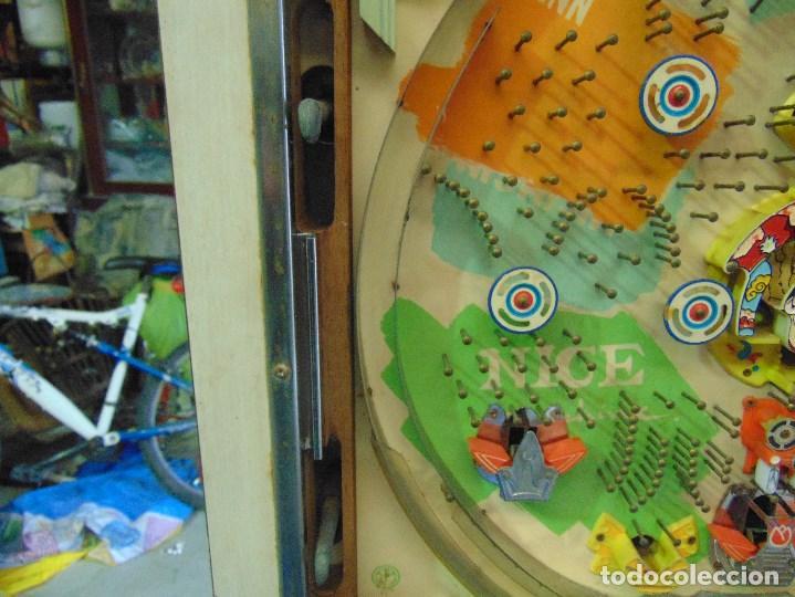 Vintage: MAQUINA RECREATIVA JAPONESA EN MADERA Y METAL TIPO PINBALL DE LA MARCA NISHIJIN SUPER DH - Foto 23 - 136584226