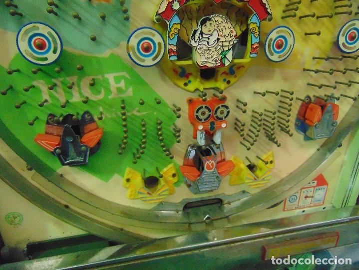 Vintage: MAQUINA RECREATIVA JAPONESA EN MADERA Y METAL TIPO PINBALL DE LA MARCA NISHIJIN SUPER DH - Foto 24 - 136584226