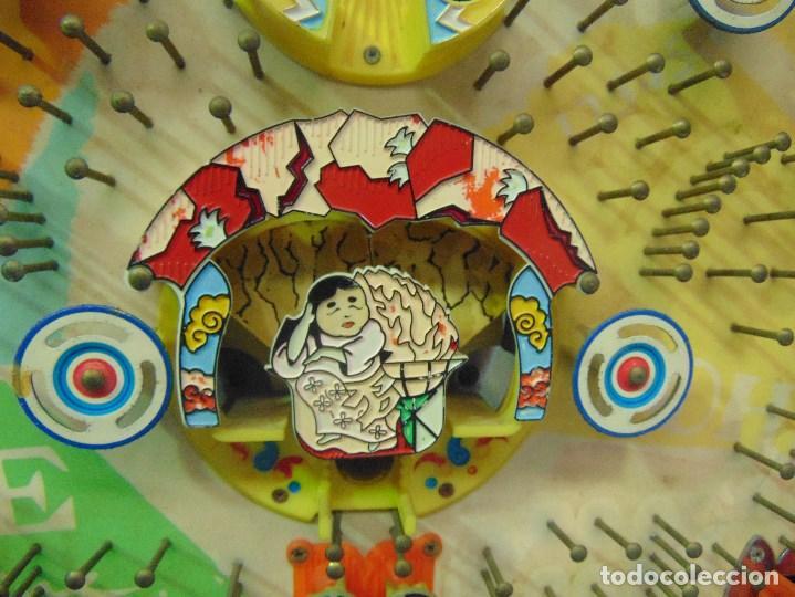 Vintage: MAQUINA RECREATIVA JAPONESA EN MADERA Y METAL TIPO PINBALL DE LA MARCA NISHIJIN SUPER DH - Foto 25 - 136584226