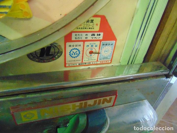 Vintage: MAQUINA RECREATIVA JAPONESA EN MADERA Y METAL TIPO PINBALL DE LA MARCA NISHIJIN SUPER DH - Foto 27 - 136584226