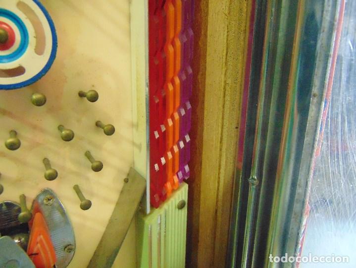 Vintage: MAQUINA RECREATIVA JAPONESA EN MADERA Y METAL TIPO PINBALL DE LA MARCA NISHIJIN SUPER DH - Foto 29 - 136584226