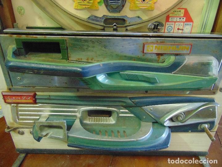 Vintage: MAQUINA RECREATIVA JAPONESA EN MADERA Y METAL TIPO PINBALL DE LA MARCA NISHIJIN SUPER DH - Foto 30 - 136584226