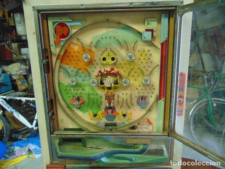 Vintage: MAQUINA RECREATIVA JAPONESA EN MADERA Y METAL TIPO PINBALL DE LA MARCA NISHIJIN SUPER DH - Foto 31 - 136584226