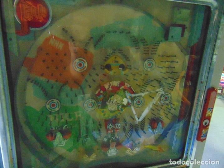 Vintage: MAQUINA RECREATIVA JAPONESA EN MADERA Y METAL TIPO PINBALL DE LA MARCA NISHIJIN SUPER DH - Foto 66 - 136584226
