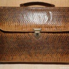 Vintage: CARTERA EN PIEL DE SERPIENTE, VINTAGE ORIGINAL.. Lote 136912588