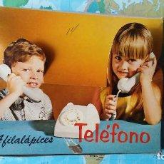 Vintage: CAJA ORIGINAL EXPOSITORA DE SACAPUNTAS TELÉFONO, AÑOS 60-70. Lote 137666558