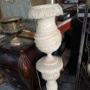 Vintage: LAMPARA DE ALABASTRO CON COLUMNA SALOMONICA 120CM DE ALTURA. Lote 137751257