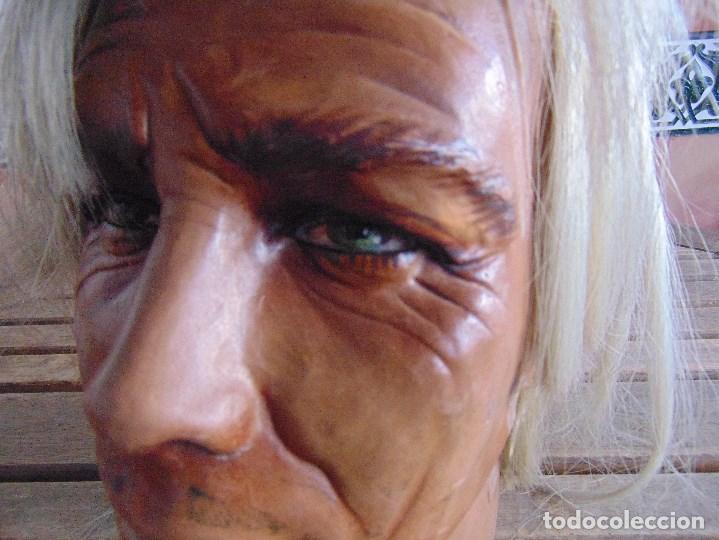Vintage: CABEZA DE MANIQUI O EXPOSITORA DE ALGUNA TIENDA TAMAÑO REAL DE GRAN REALISMO - Foto 6 - 208768752