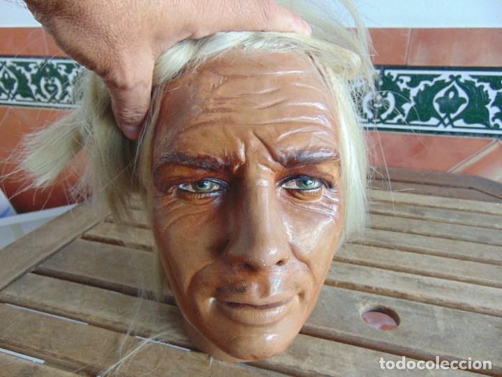 Vintage: CABEZA DE MANIQUI O EXPOSITORA DE ALGUNA TIENDA TAMAÑO REAL DE GRAN REALISMO - Foto 20 - 208768752