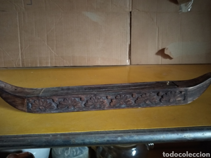 Vintage: Barco incienso madera tallada - Foto 3 - 139048750