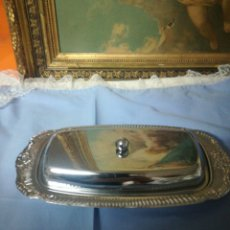 Vintage - Mantequillera metal plateado - 139103810