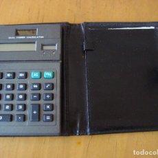 Vintage: DUAL POWER CALCULATOR EN FUNDA CARTERA DE PIEL. Lote 139425574