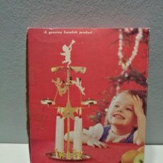 Vintage: CANDELABRO CARRILLON - ANGEL CHIMES - IMPULSADO 4 VELAS - NAVIDAD - SUECIA. Lote 139527178