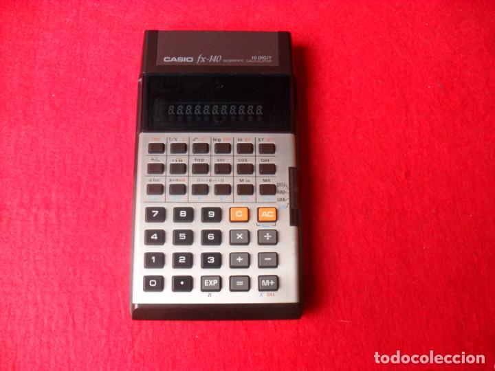 Vintage: vintage calculadora casio FX-140,funcionando - Foto 2 - 140239490