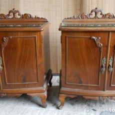 Vintage: 2 MESITAS DE NOCHE AÑOS 40. Lote 140549394